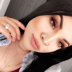 Girrrll!  www.throwbackannie.com ✨Look stunning today with some super #cute nose rungs, septum #piercings and industrial bars✨ www.throwbackannie.com