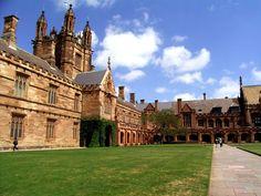University of Sydney Main Quadrangle, by Kitty Saturn, Sydney, New South Wales, Australia. Wikipedia Commons