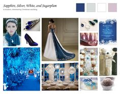 blue and Silver  feathers Wedding Theme | ... Wedding: Sapphire, Silver, White, and Sugarplum | The Wedding Planner