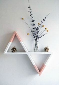 63 Trendy Home Decoration Pink Pastel Room Decor Bedroom, Diy Room Decor, Bedroom Ideas, Room Decorations, Cozy Bedroom, Wall Decor, Diy Home Decor Rustic, Diy Tumblr, Geometric Decor