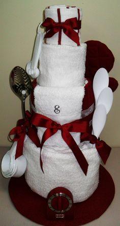Wedding shower towel cake!!!