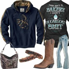 Clothes - Boots - what to wear with boots 41 Ideas Boots Cowgirl Outfit Jeans Country Girls For 2019 Camo Outfits, Cowgirl Outfits, Western Outfits, Jean Outfits, Western Wear, Cowgirl Fashion, Camo Cowgirl Boots, Cowgirl Clothing, Gypsy Cowgirl