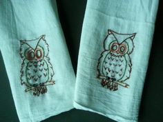 wise owl kitchen towels (MINT AND OWL! OMG THEY WERE MADE FOR MY KITCHEN!)