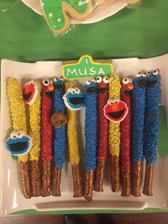 Sesame Street chocolate covered pretzels
