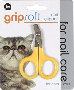 JW Pet Company GripSoft Cat Nail Clipper - The Grip Soft Cat Nail Clipper is a part of the JW feline only grooming line. This nail clipper is just the right size to safely and easily trim your cat's nails. The non-slip comfortable rubber handle makes it easier to hold the clipper providing a safer grooming experience for your pet.