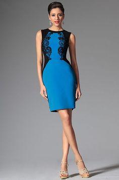 Modré puzdrové šaty | Krátke spoločenské šaty | Spoločenské šaty | Krásne-šaty.sk