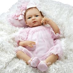 Paradise Galleries Realistic Baby Doll, Sweet Caroline, 22 inch GentleTouch Vinyl