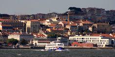 lisboa vista do rio Tejo, Lisbon from river Tagus