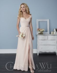 7b8371c65c4 Christina Wu Celebration - Bridesmaid offers versatile dress designs with  functional appeal Off Shoulder Bridesmaid Dress