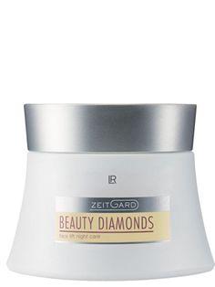 Zeitgard Beauty Diamonds Nattkräm. Dyrbara, naturliga oljor kompletteras med speciellt verksamma anti-rynk ämnen. En effektiv kombination av aktiva ämnen förbereder huden och stödjer dess egna regenerering. Den rikhaltiga och smidiga texturen skämmer bort huden. Med Diamond SIRT och Detoxiquin samt Ceramid komplex K: en lipid som återuppbygger hudens skyddsbarriär och på så sätt säkerställer att fuktbalansen hålls. Matryxyl
