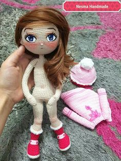 Best Crochet Amigurumi Doll Models Amigurumi WorldThis Pin was discovered by kes Crochet Doll Pattern, Crochet Patterns Amigurumi, Amigurumi Doll, Crochet Dolls, Crochet Eyes, Cute Crochet, Doll Clothes Patterns, Doll Patterns, Tutorial Amigurumi