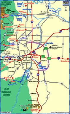 County Map Of Colorado With Roads Map Of Colorado And Colorado - Colorado road map
