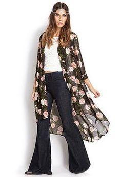 cardigan • floral kimono • looks like twenty one pilots // style