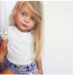 Find images and videos about baby, kids and child on We Heart It - the app to get lost in what you love. Little Girl Fashion, My Little Girl, My Baby Girl, Toddler Fashion, Little Princess, Kids Fashion, Blonde Baby Girl, Blonde Kids, Blonde Babies