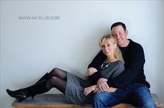indoor engagement photo