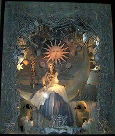 Bergdorf Goodman window: The Seasons: Autumn Fashion Window Display, Window Display Design, Store Window Displays, Retail Displays, Visual Merchandising Displays, Visual Display, Retail Store Design, Retail Stores, Christmas Window Display