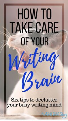Your brain is your most important creative too, so it's important to take care of it! Here are six tips to help declutter your writing brain! #writing #writingtips #novelwriting #writinglife #awelltoldstory