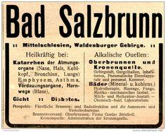 SW Szczawno Zdrój reklama uzdrowiska. (Original-Werbung/ Anzeige 1910 - BAD SALZBRUNN - ca. 90 x 65 mm).