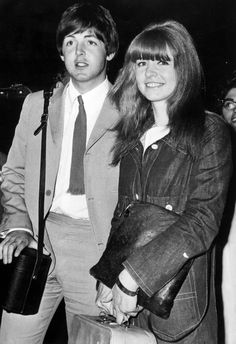 Paul McCartney arrives back in London with girlfriend, actress Jane Asher, after spending a holiday at the Portuguese fishing village of Albufeira, in 1965