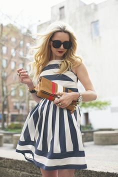 Atlantic Pacific // Stripes in navy and white for spring #streetstyle
