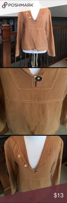 Tommy Bahama Lightweight Beachy Pullover🌊🌴 Tommy Bahama sand colored lightweight 55 Silk/ 45 Linen Hoodie Pullover. Super cute! No flaws. Mannequin size Small 2-4. Tommy Bahama Tops Sweatshirts & Hoodies
