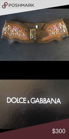 Dolce & Gabbana embroidered belt Vintage dolce and gabbana belt Dolce & Gabbana Accessories Belts
