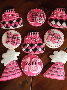 Birthday party cookies