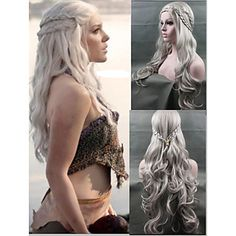 Cosplay Wig New Arrival Game of Thrones Daenerys Inspired Hair Cosplay Hair Wigs Silver – CAD $ 40.67