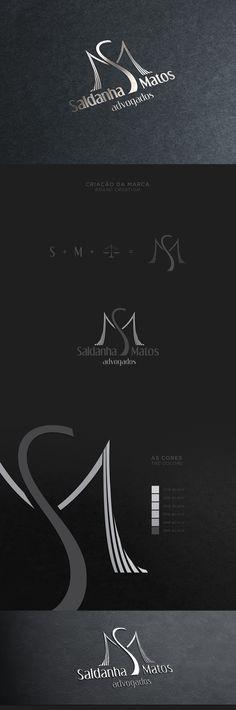 Criação da marca e identidade visual da empresa Saldanha Matos Advogados.Creation of the brand and visual identity of the company Saldanha Matos Advogados.