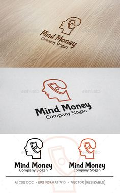 Money Mind Logo — Vector EPS #consult #finance • Available here → https://graphicriver.net/item/money-mind-logo/9932125?ref=pxcr