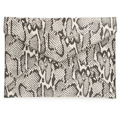Women's Rebecca Minkoff 'Leo' Envelope Clutch (€57) ❤ liked on Polyvore featuring bags, handbags, clutches, zip purse, zipper purse, envelope clutch bags, zipper handbags and rebecca minkoff clutches