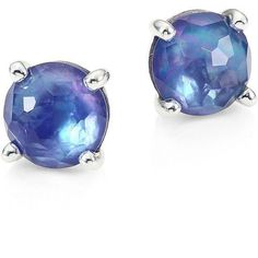 IPPOLITA Rock Candy Clear Quartz, Mother-Of-Pearl & Lapis Mini Stud... ($410) ❤ liked on Polyvore featuring jewelry, earrings, apparel & accessories, rock jewelry, clear quartz jewelry, post earrings, mother of pearl stud earrings and clear crystal earrings