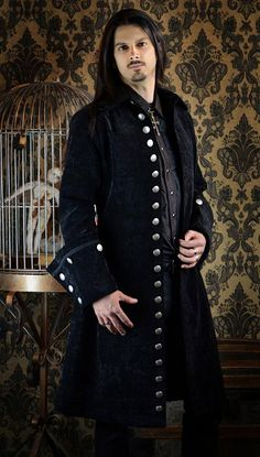 GALLEON PIRATE COAT - BLACK VELVET