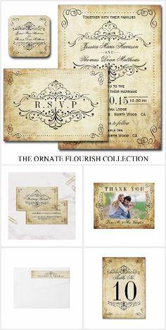 The Ornate Flourish Vintage Wedding Collection