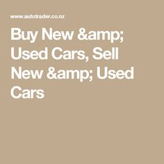 Buy New & Used Cars, Sell New & Used Cars