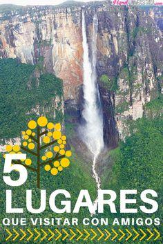 5 LUGARES DE VENEZUELA PARA VISITAR CON AMIGOS  ¡Hola chicos! Desde hace tiempo quiero viajar con mis amigos de la universidad y por alguna razón no lo hemos hecho.  Una de mis resoluciones de este año es poder escaparme al menos un fin de semana a los increíbles lugares turísticos de Venezuela.  Sí al igual que yo están planeando un viaje por este bello país, preparé para ustedes (y para mis amigos si están leyendo) una lista de recomendaciones.