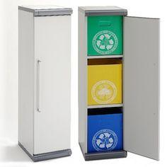 mueble reciclaje basura 3 cubos