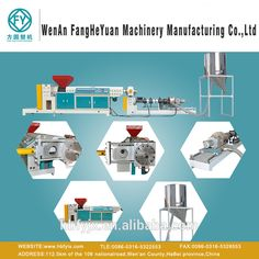 PVC/die surface hot cutting/wind cooling/double stage plastic granulation production line