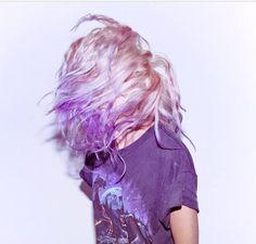 Kyla la Grange - grunge! Love the purple dipped hair!