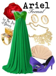 Formal outfit inspired by Ariel from The Little Mermaid! This would be great for Prom or for any other elegant event.