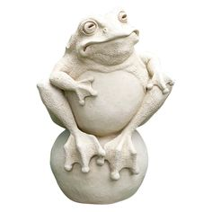 Frog On The Ball Garden Statue - 309