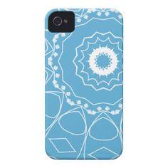 Blue swirl Mandala pattern iPhone cases by #In_case