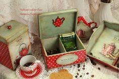 """Купить ! Чайный набор """"Victoria Tea"""" - ярко-красный, чайный набор, чайный короб"""