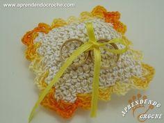 Lembrancinha de Casamento em Croche - Mini Almofada em Croche