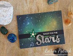 Galaxy Background Card