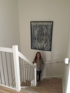 This is from the staircase to the third floor. ..Fun to be with mom at work when you´ll have every room for yourself...