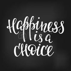 Happiness is a choice quote lettering. Calligraphy inspiration graphic design typography element. Hand written postcard. Cute simple sign.