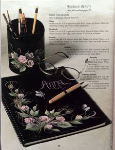 Journal of drawing flowers.