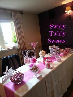 Pink Themed Sweetie Buffet