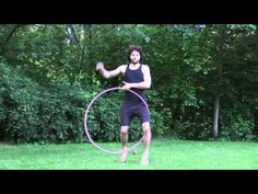 How to Hula Hoop tricks: Helicopter to One Leg Escalator